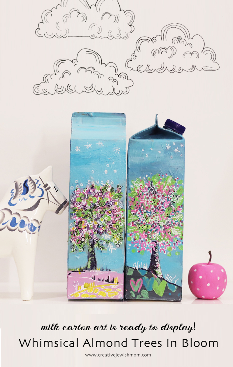 Cherry-blossom-trees-painting-on-milk-carton