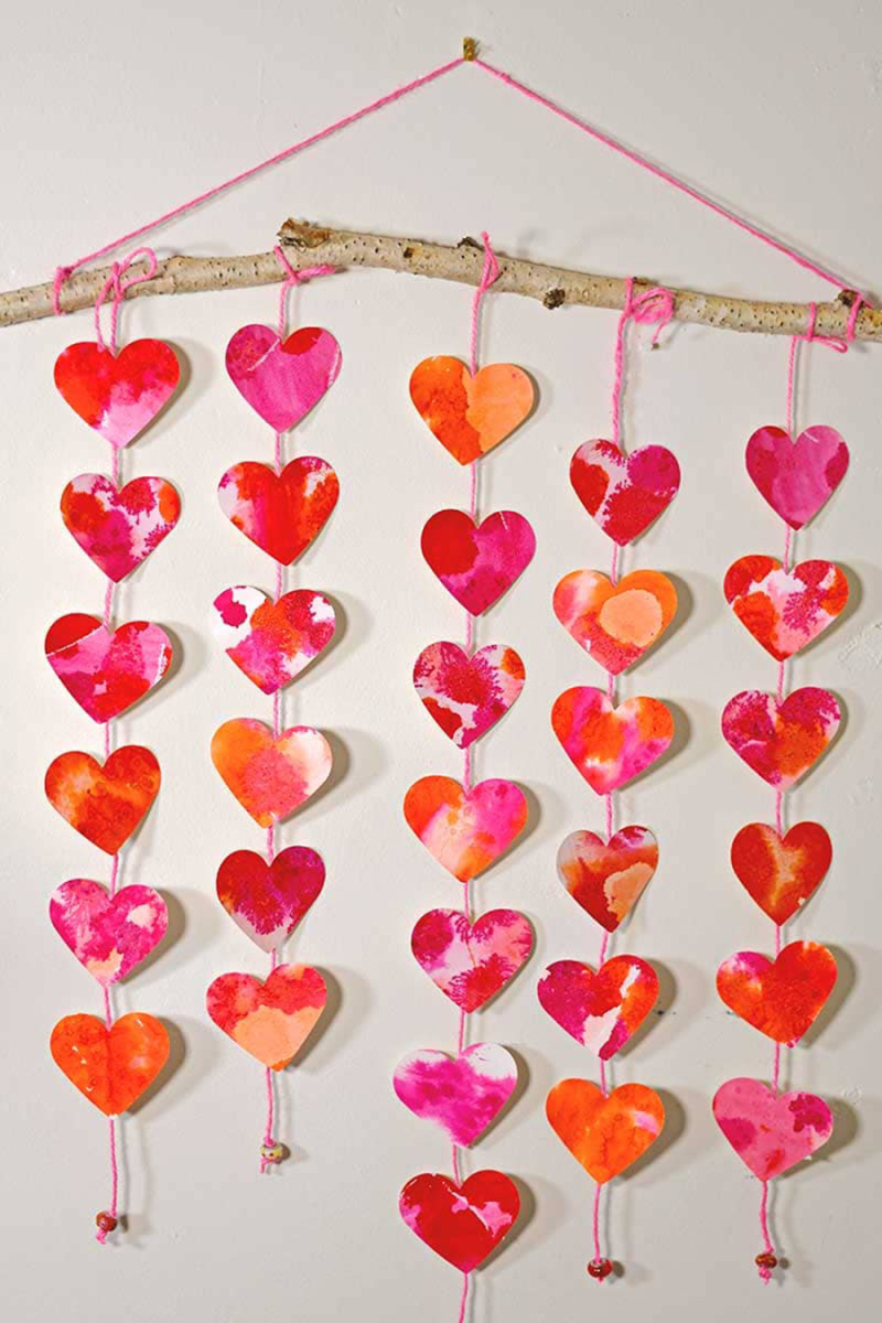 Water-color-hearts-wall-hanging
