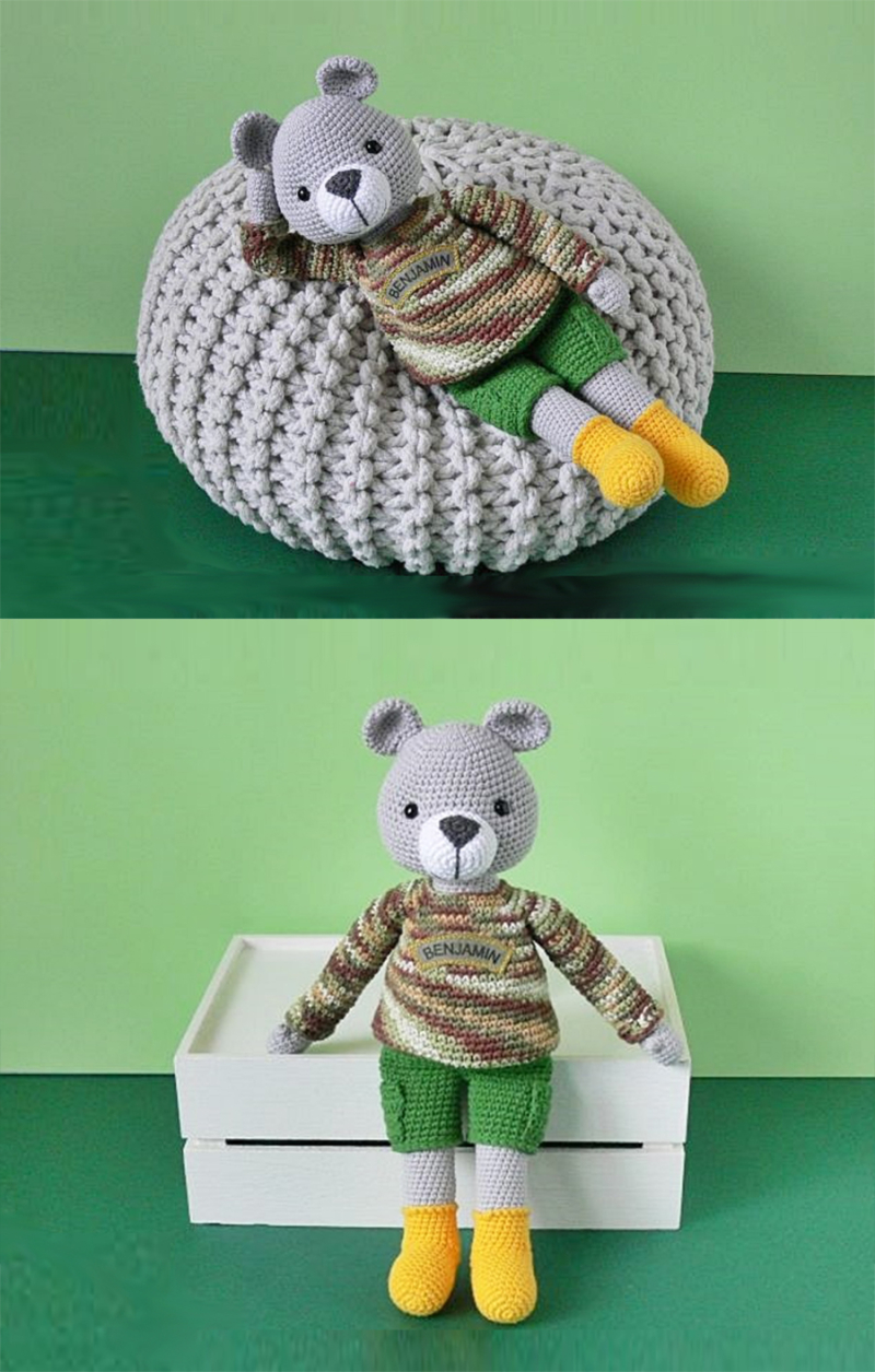 Crochet-bear-doll-with-clothes