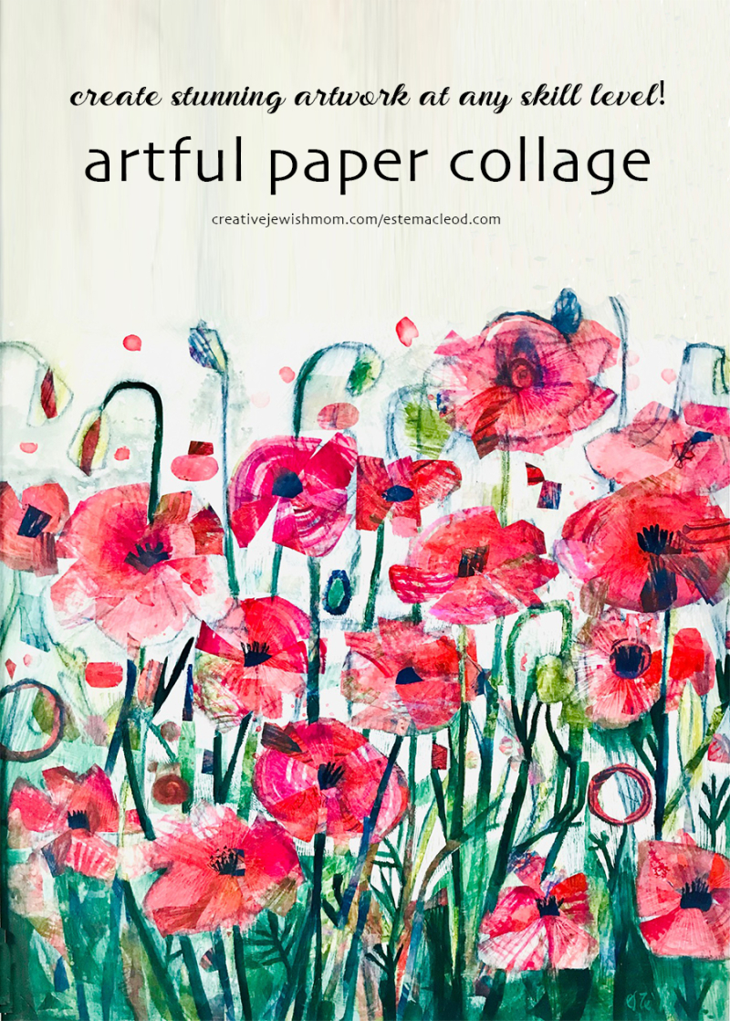 Paper-collage-poppies