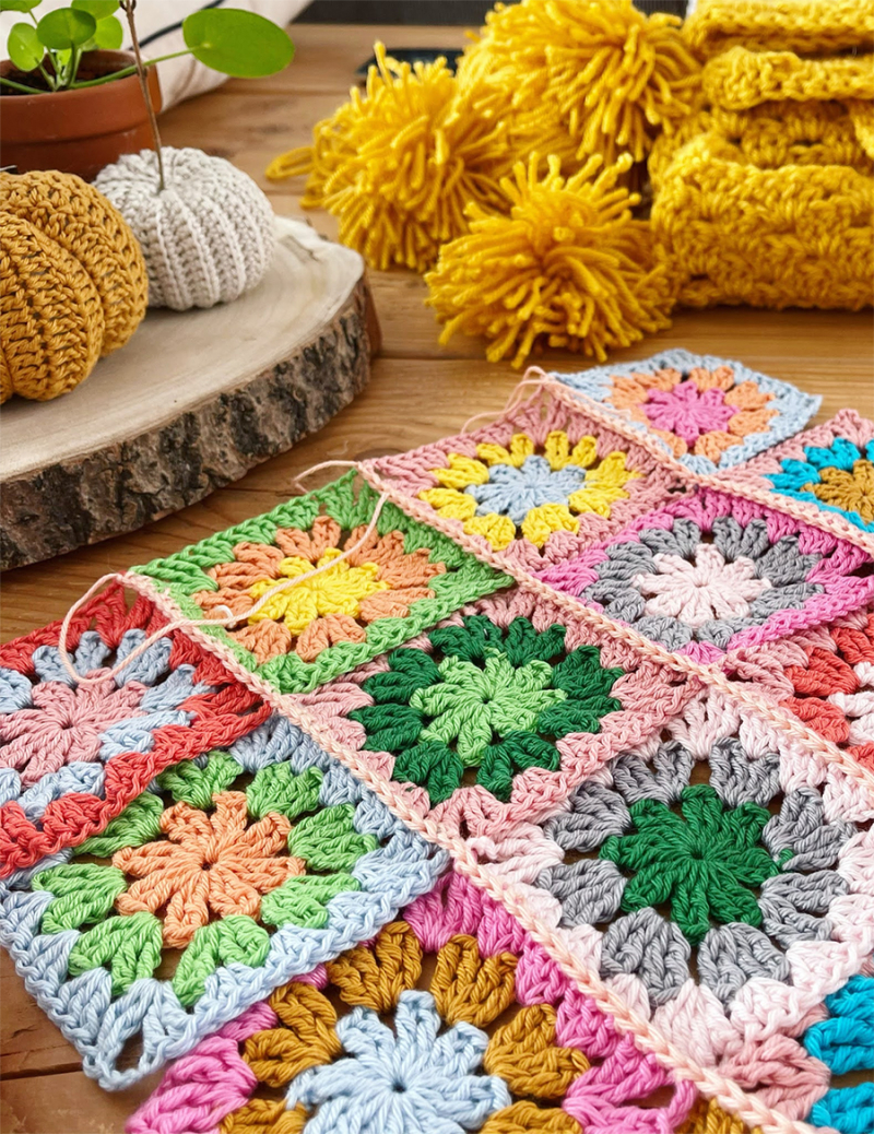 Crocheted-granny-pillow-cover