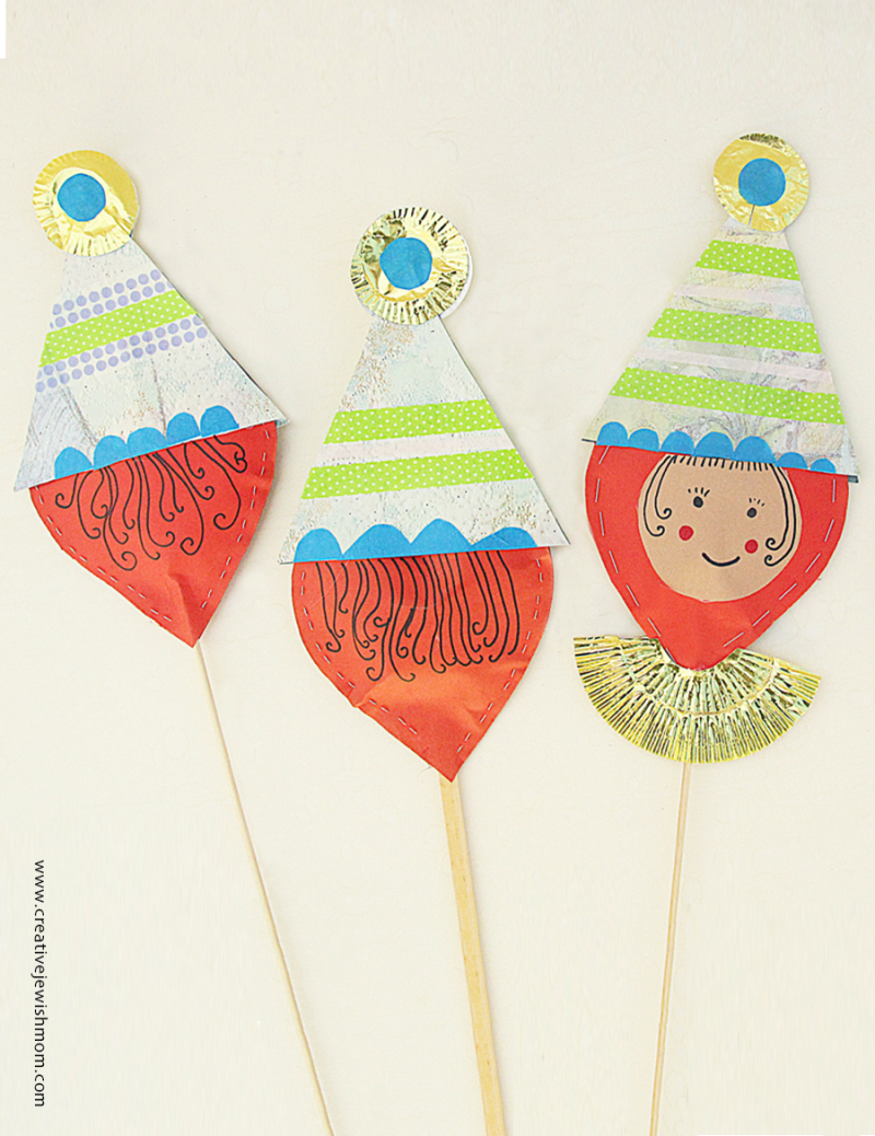 Clown-cake-topper-craft-birthday-purim