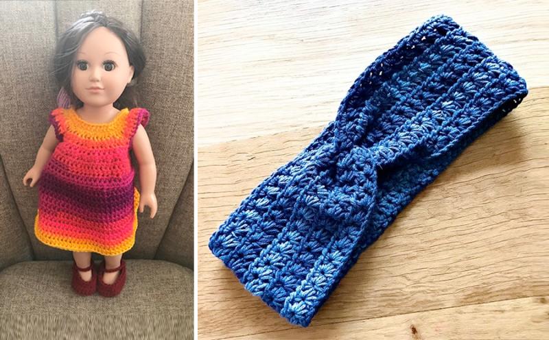Crocheted-girl-bear-with-dress