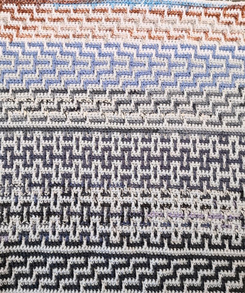 Crocheted-mosaic-stitch-blanket