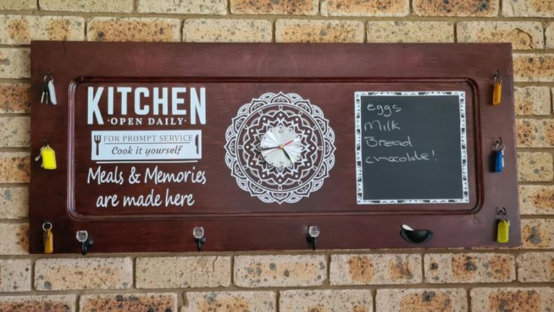 DIY-Kitchen-sign-from-cabinet-door