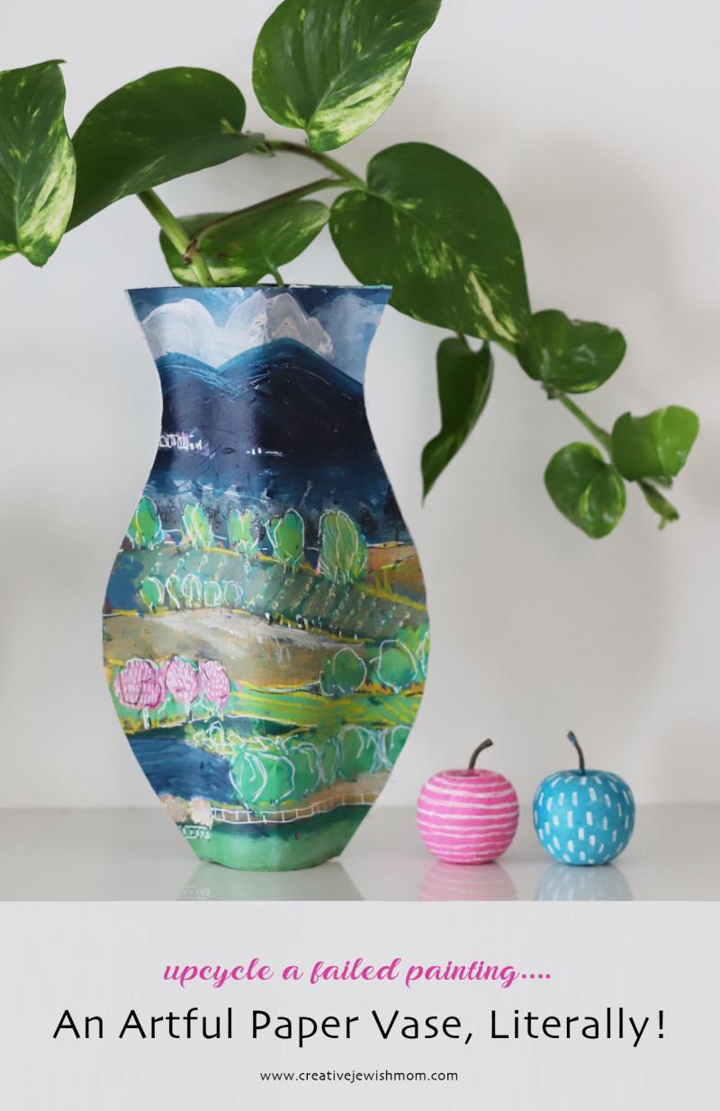 DIY-paper-vase-spring