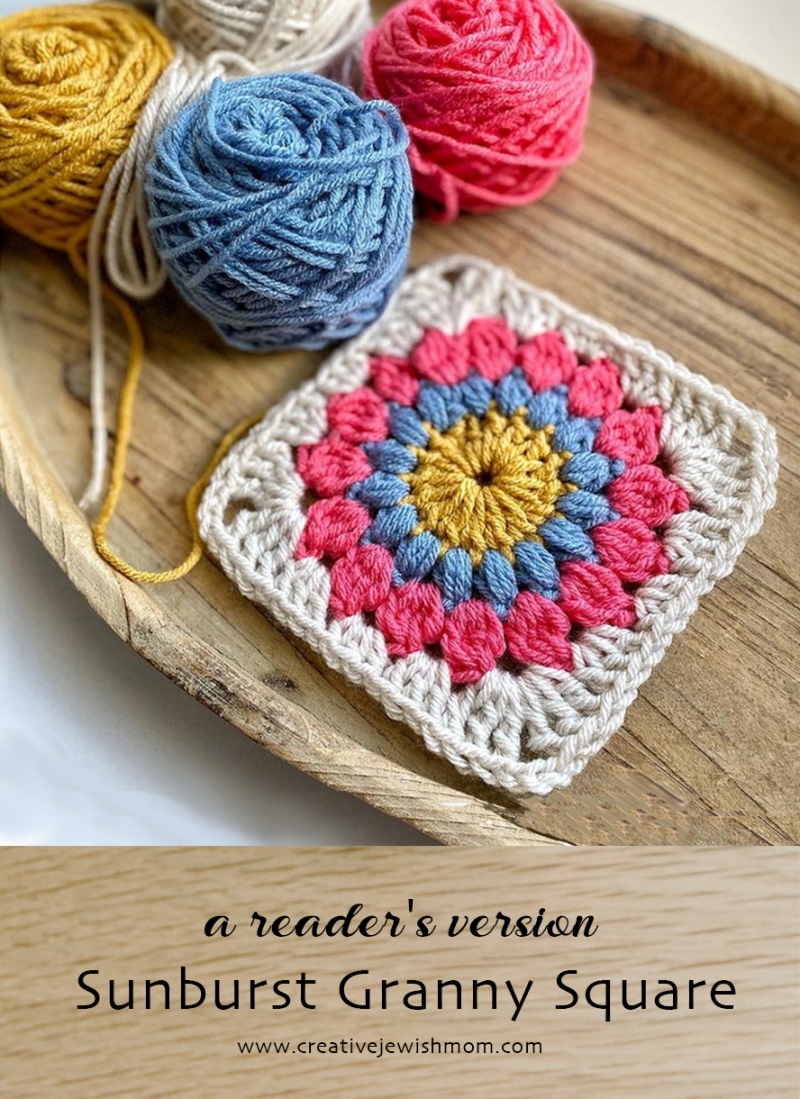 Sunburst-crocheted-granny-square