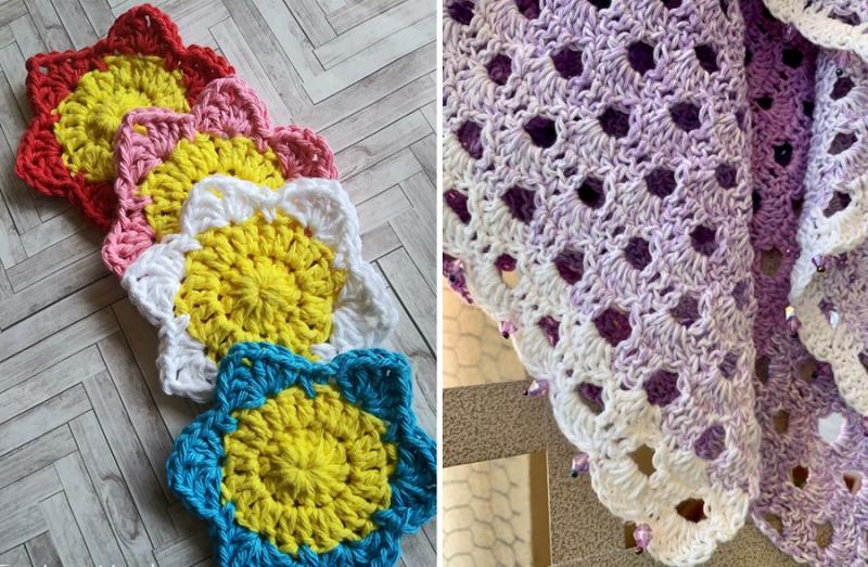 Crochet-flower-coaster-free-pattern