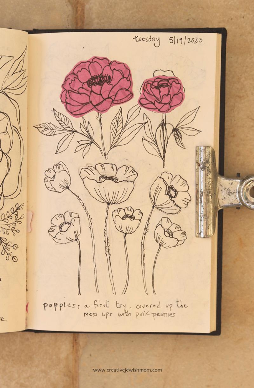 Simple-poppy-sketch