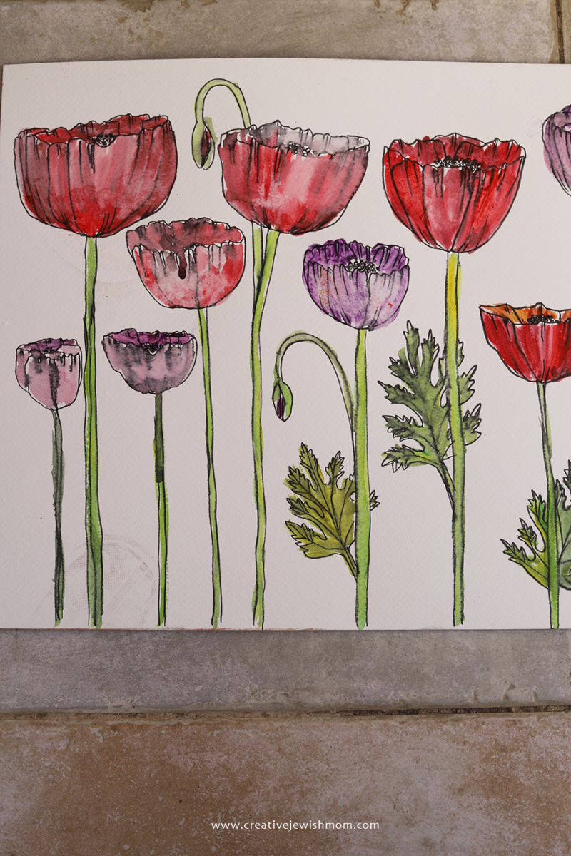 Watercolor-poppies-for-crafts