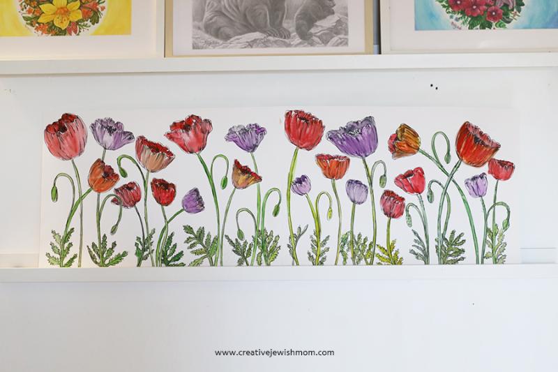 Poppy-watercolor-wall-art