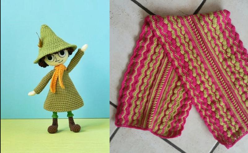 Crochet-doll crochet-wavy-scarf
