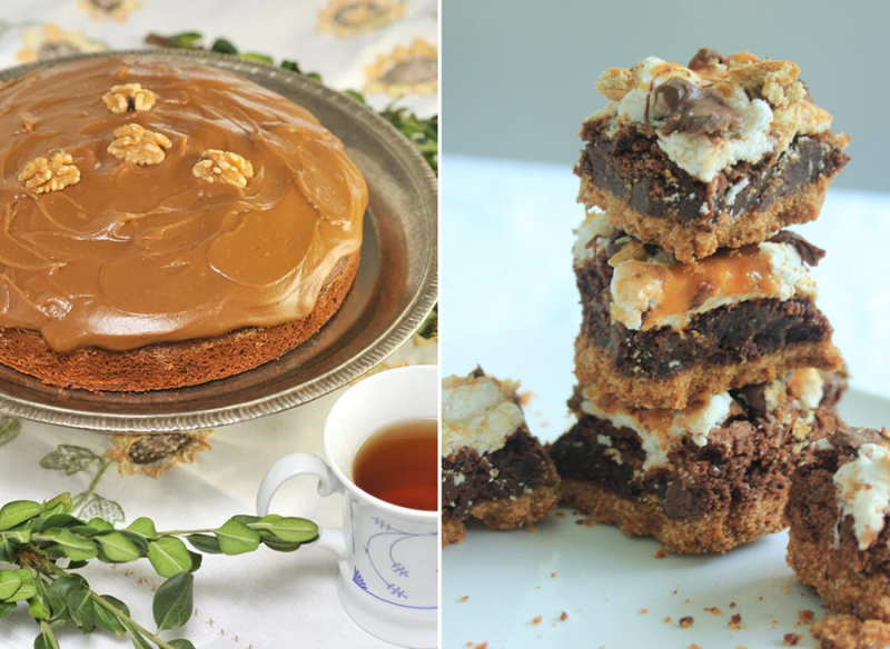 Caramel-icing caramel-chocolate-rocky-raod