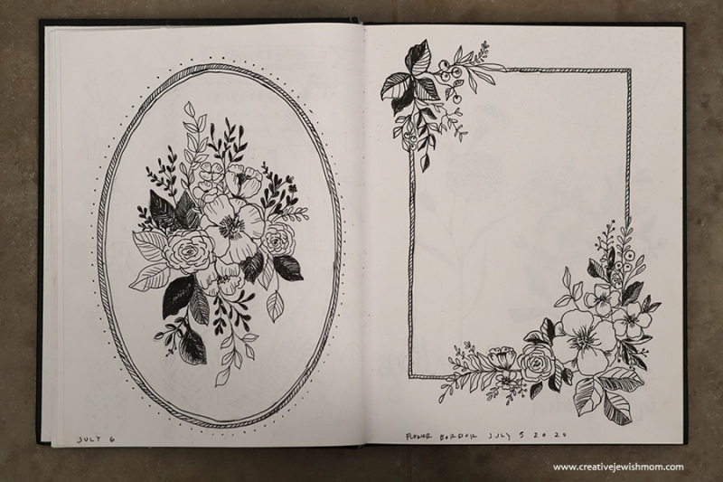How-to-draw-a-floral-border