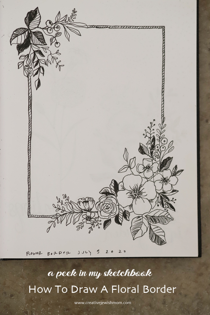 Floral-border-for-greating-card