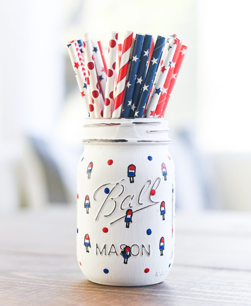 Red-white-blue-popsicle-mason-jar-craft-memorial-day-fourth-of-july-craft-ideas
