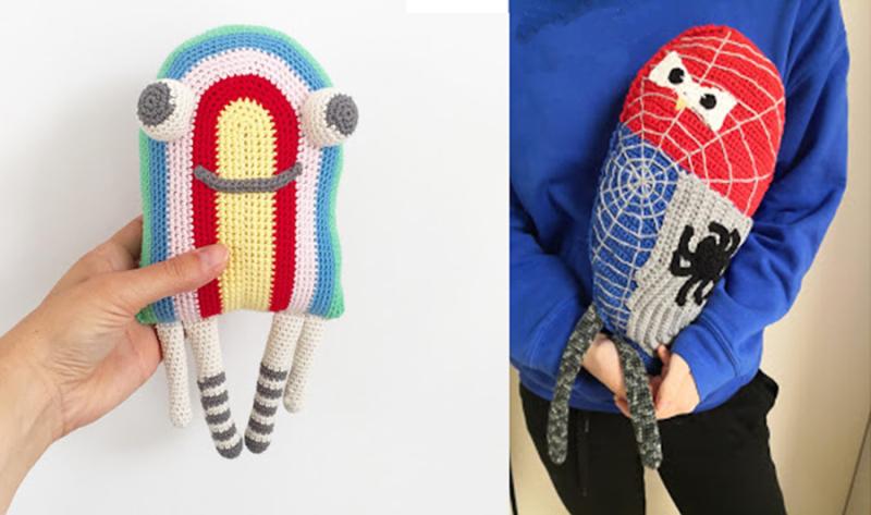 Crochet-dora -doll