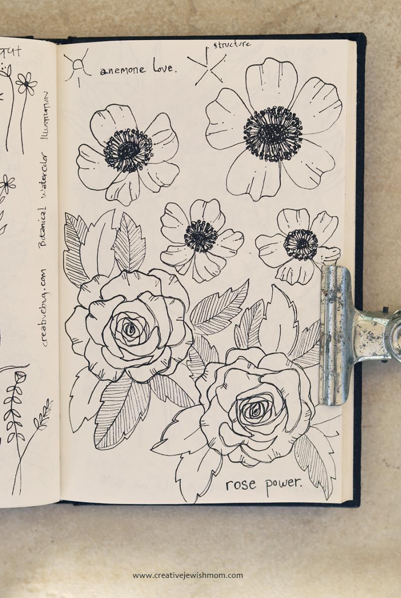 Sketchbook roses