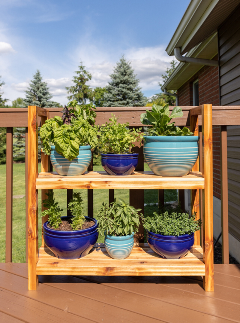 DIY-Outdoor-wood-plant-stand