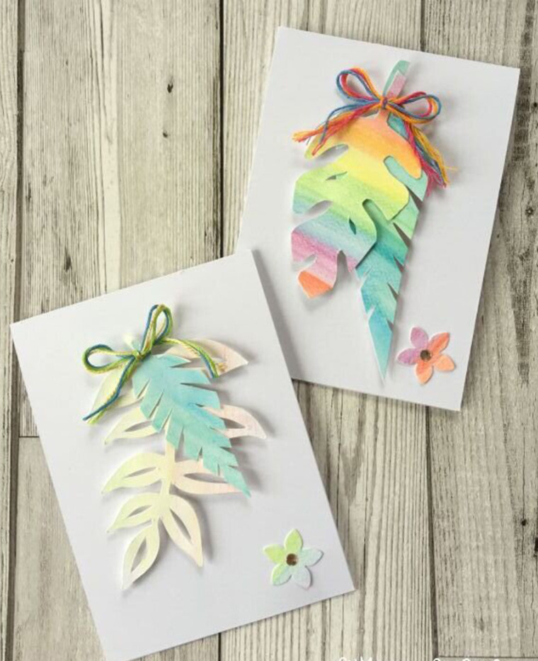 Water-color-leaf-cut-outs-cards