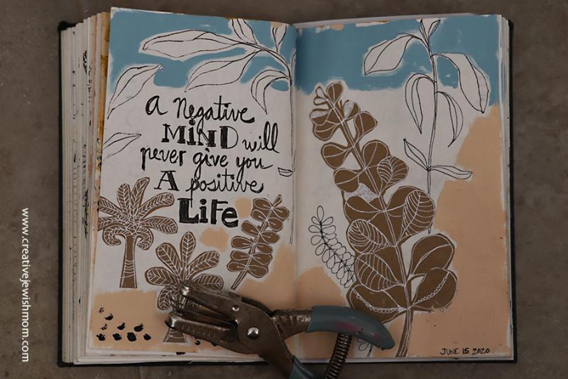 Mixed-media-sketchbook-botanicals