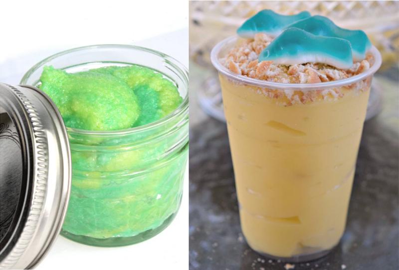 DIY-green-sugar-scrub shark-pudding-cups