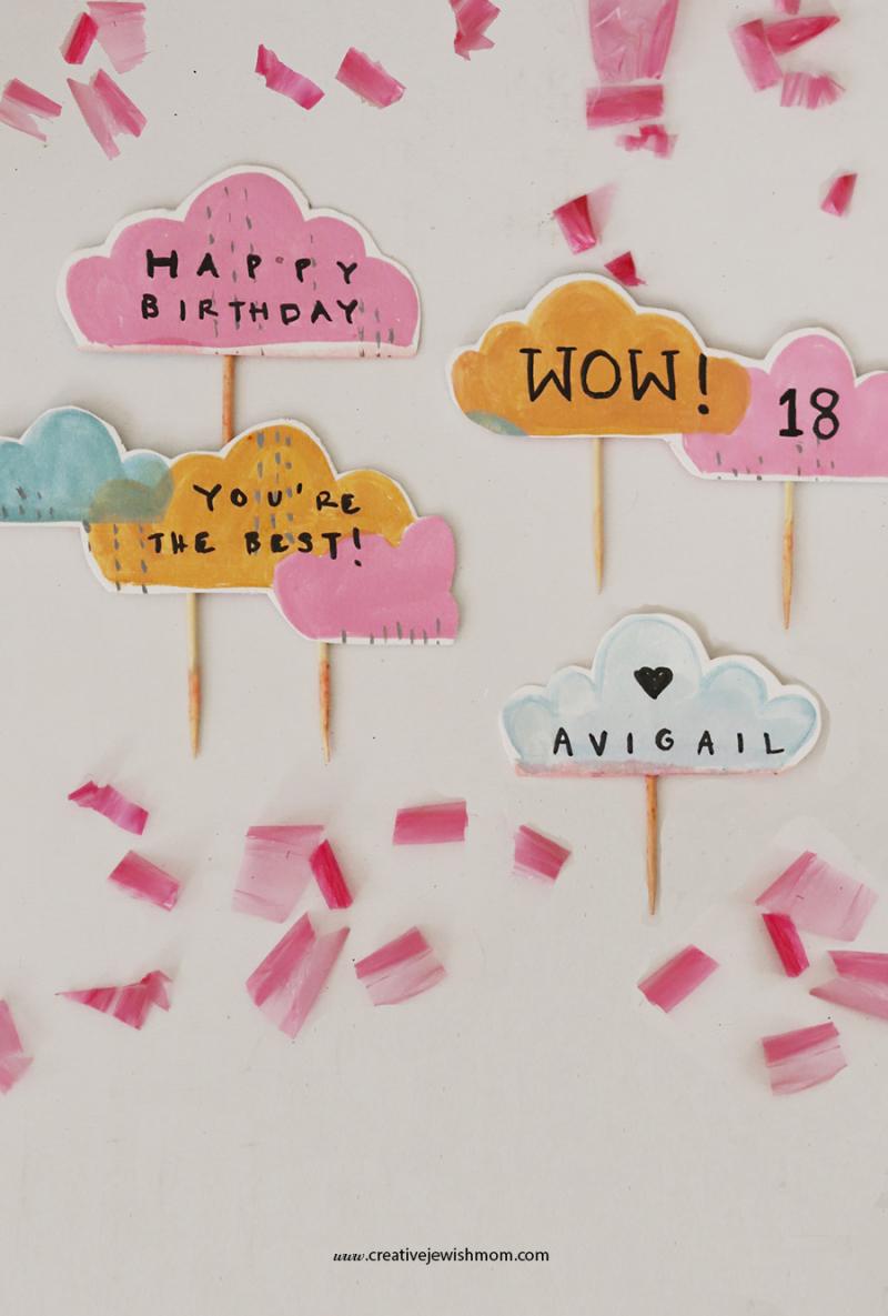 Paper-cloud-cake-topper
