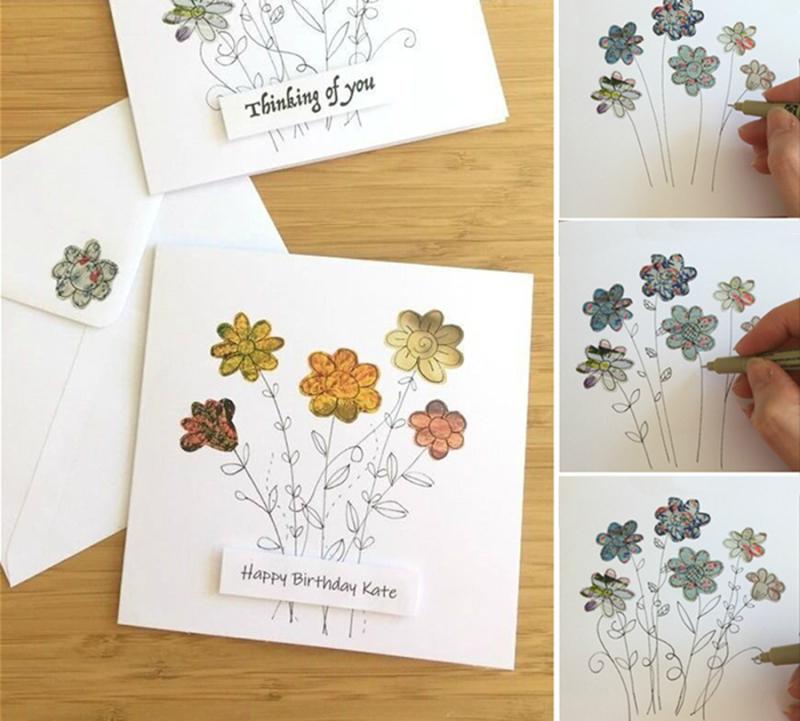 Simple-felt-flower-sewing-craft-for-kids