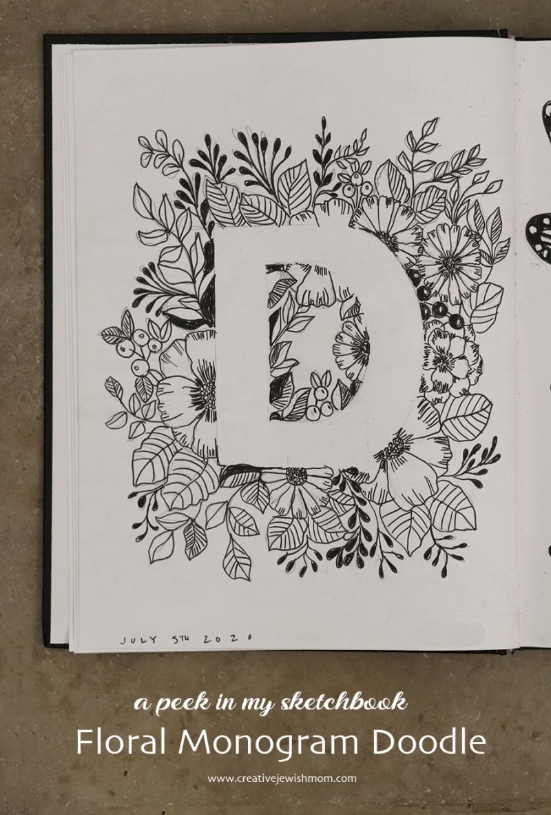 Floral-monogram-doodle