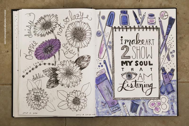 I-make-art-quote-sketchbook