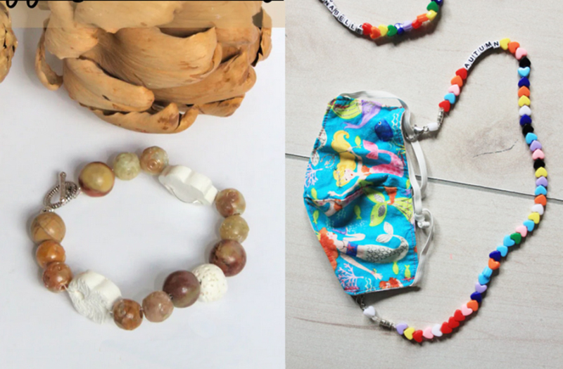Essential-oil-bracelet DIY-face-mask-necklace