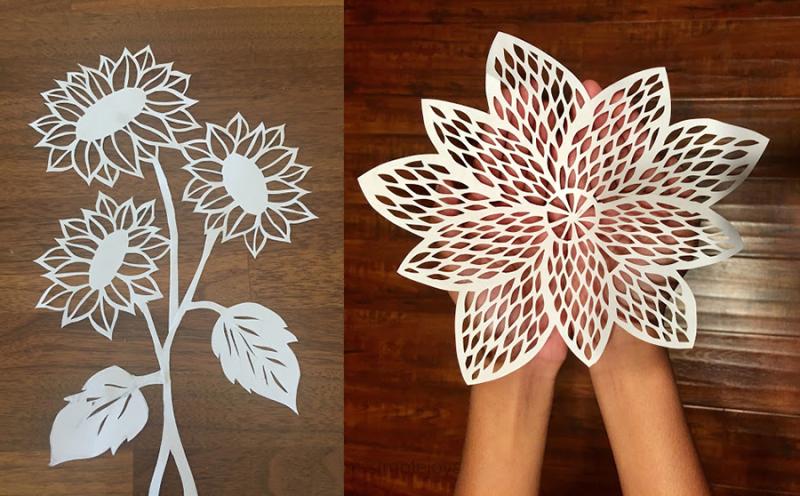 Flower-paper-cuts
