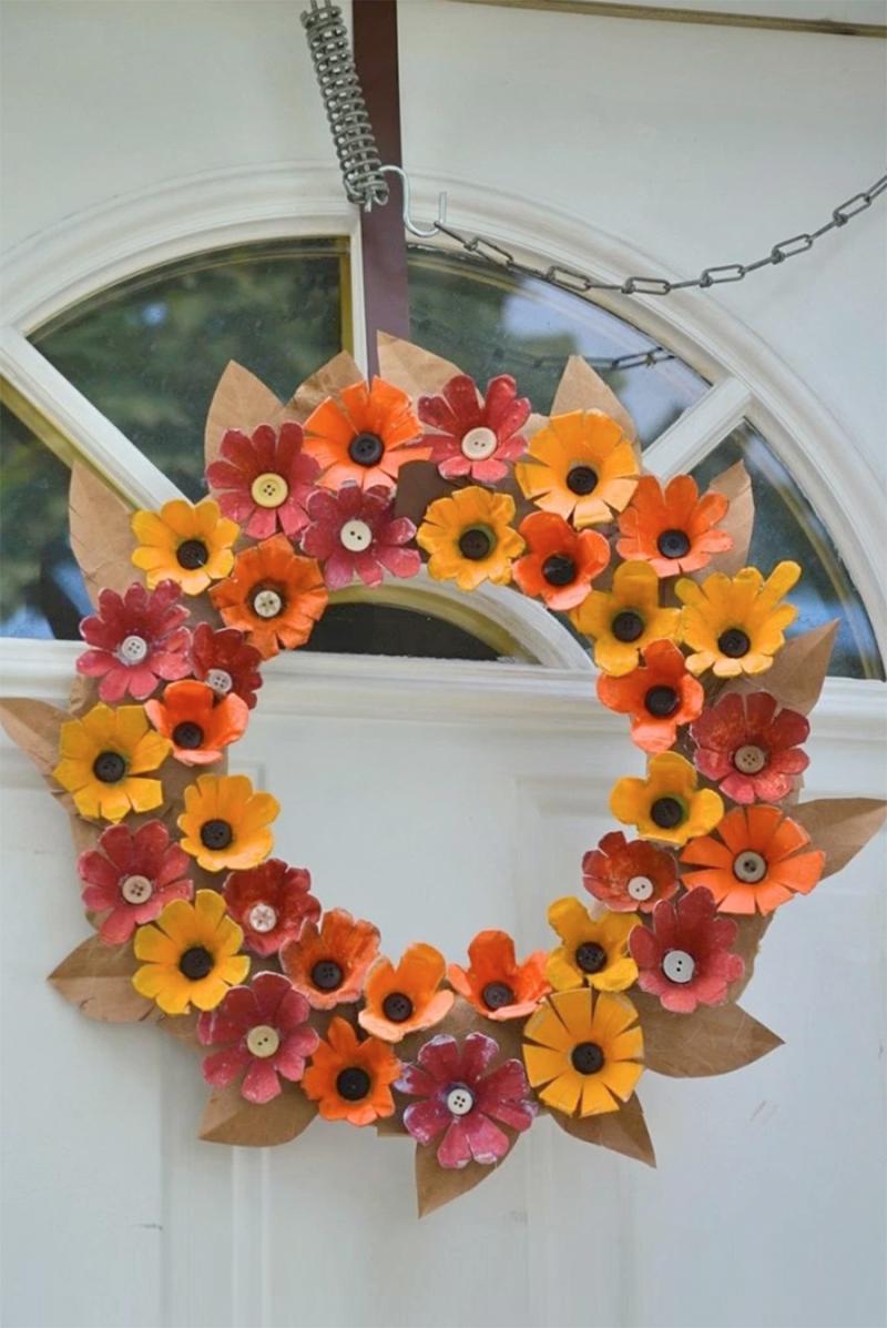 Egg-carton-flowers-fall-wreath