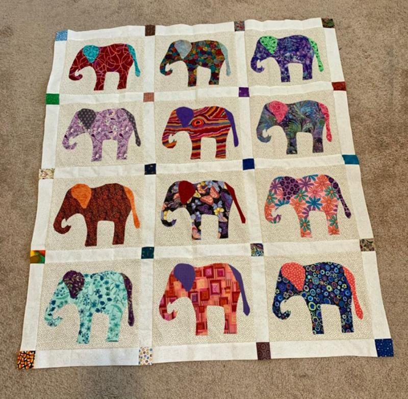 Elephant-applique-quilt