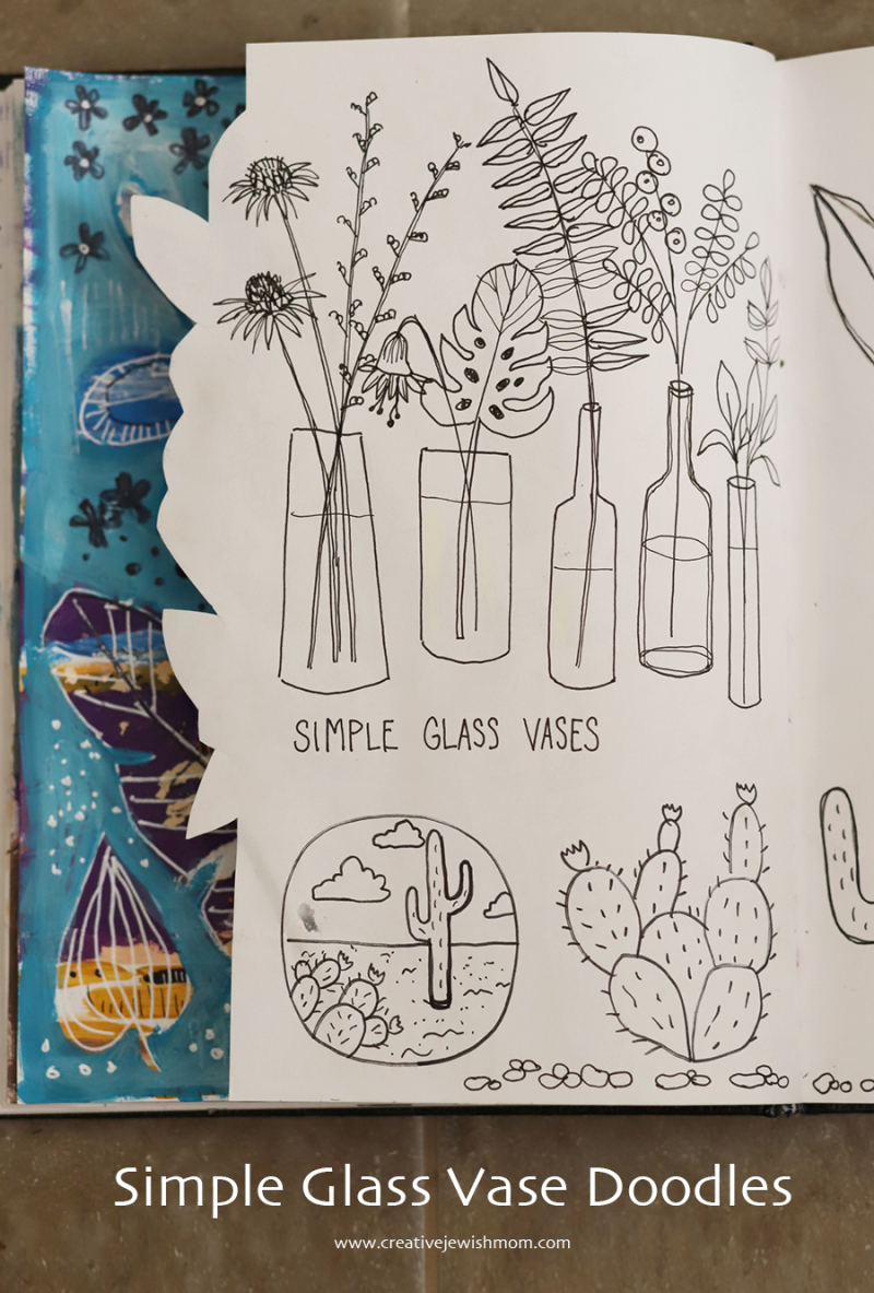 Simple-glass-vase-doodles-with-botanicals