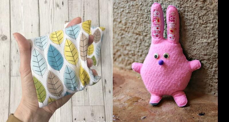 DIY-rice-hand-warmer pink-felt-bunny
