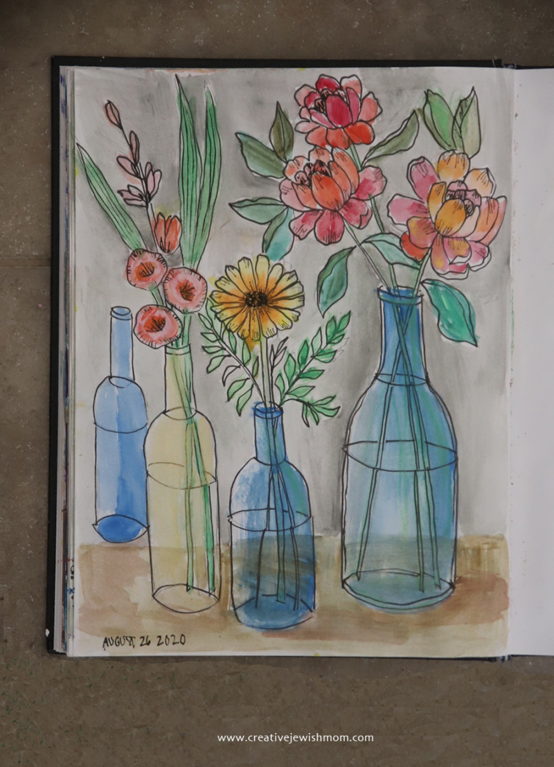 How-to-paint-simple-sketched-bottles