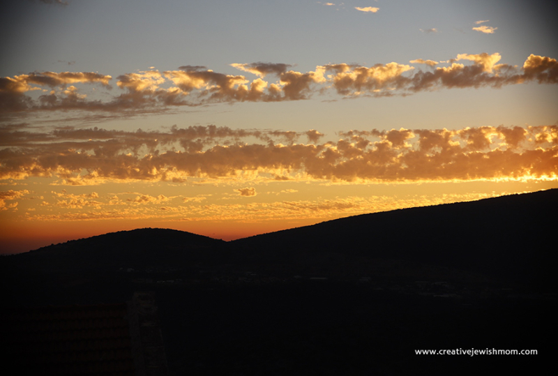Sunset-with-strips-of-clouds-israel