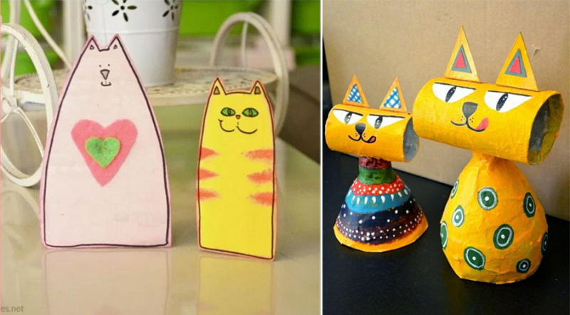 Recycling-craft-cats