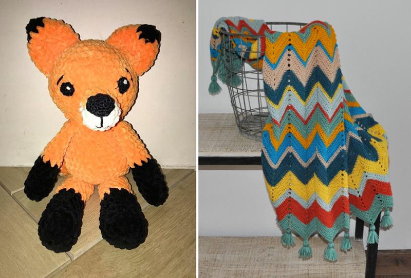 Crochet-chenille-fox