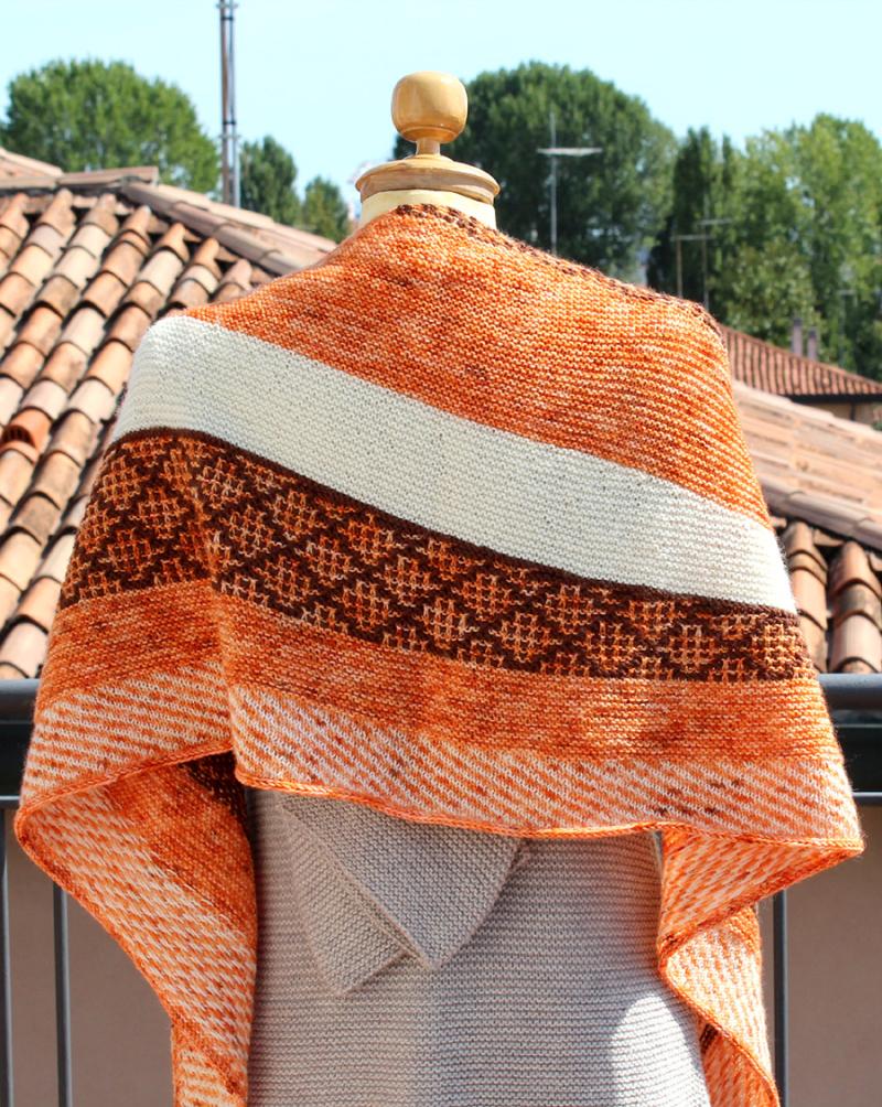 Knit-patterned-shawl