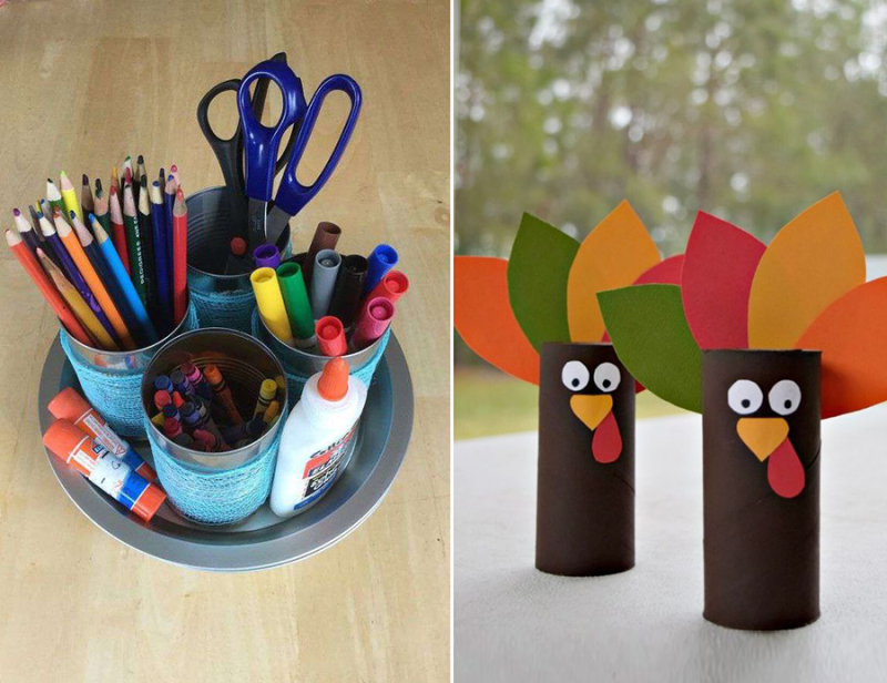 Repurposed-can-caddy tp-rolls-turkey