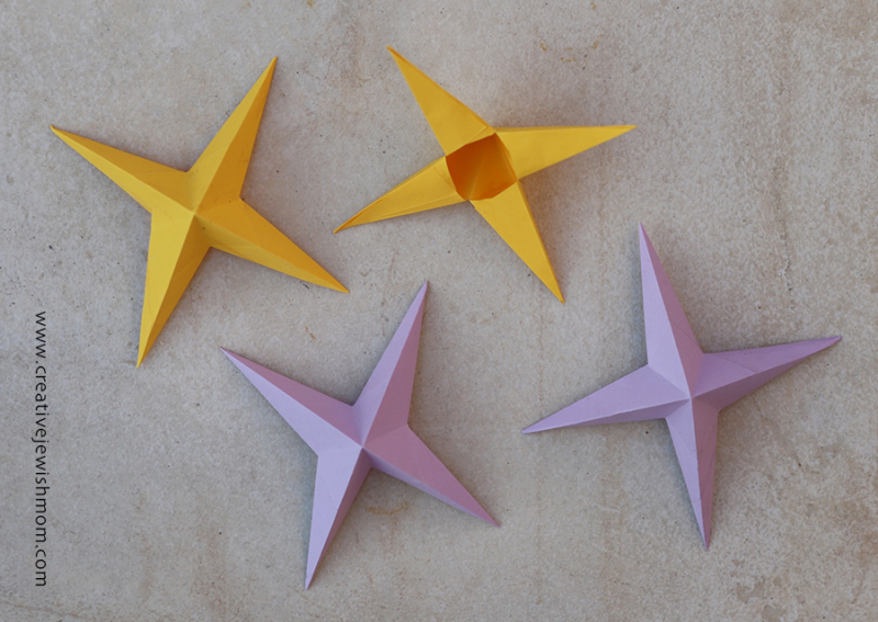 Origami-paper-stars-eight-points-3D