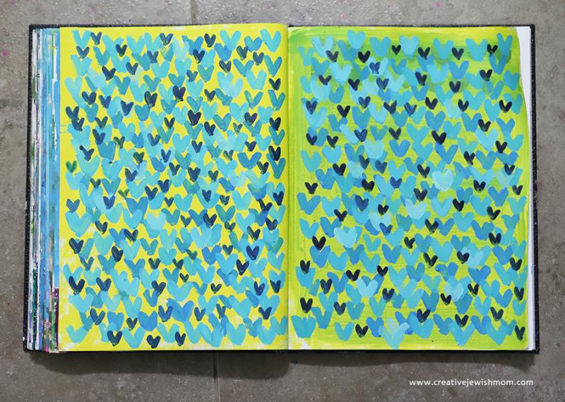 Sketchbook-pear-of-mini-hearts