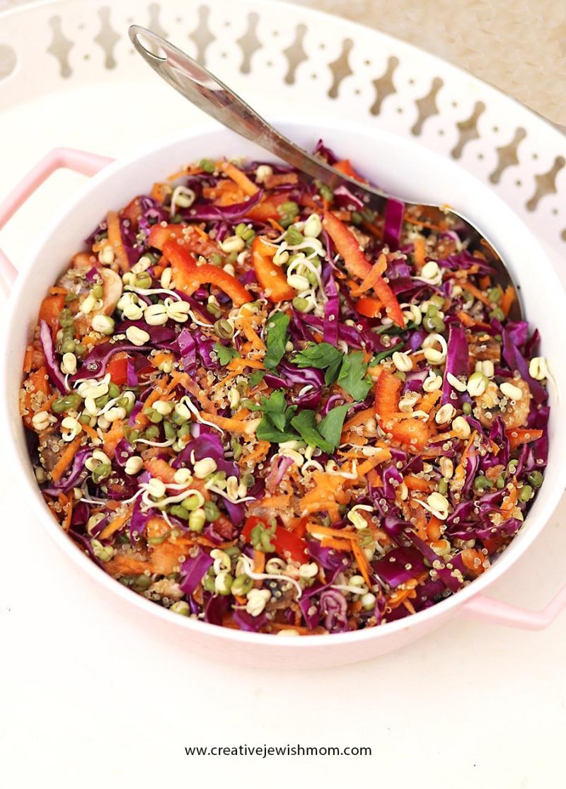 Quinoa Mung Bean Sprout Mixed Salad