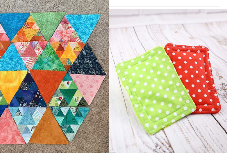 Patchwork-quilt-with-triangles