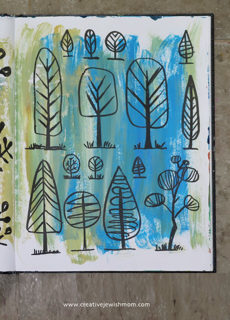 Doodle-tree-painting-tu-b'shevat