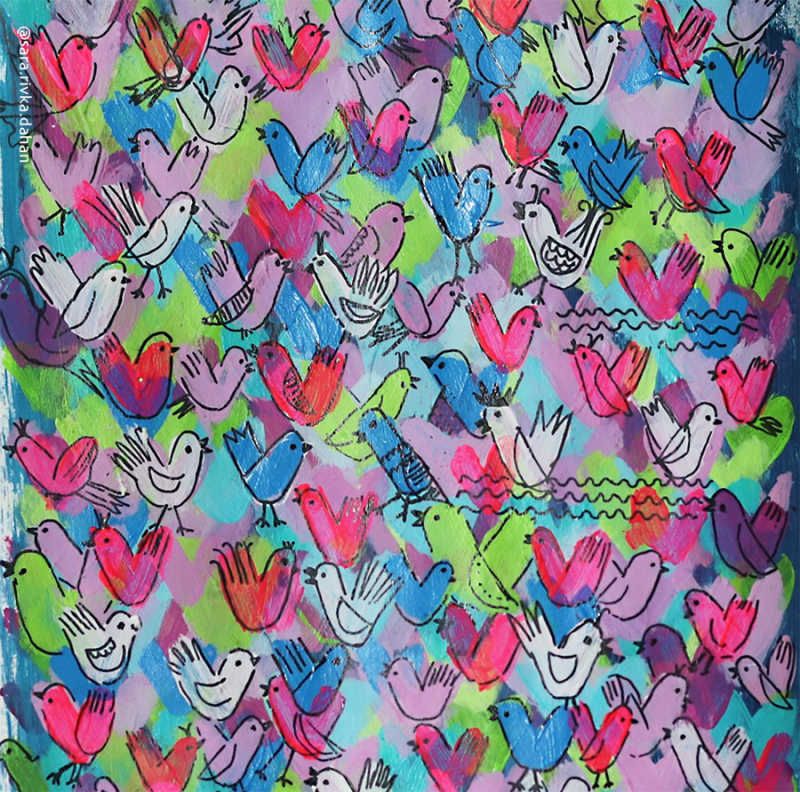 Birds-from-hearts-doodle-pattern