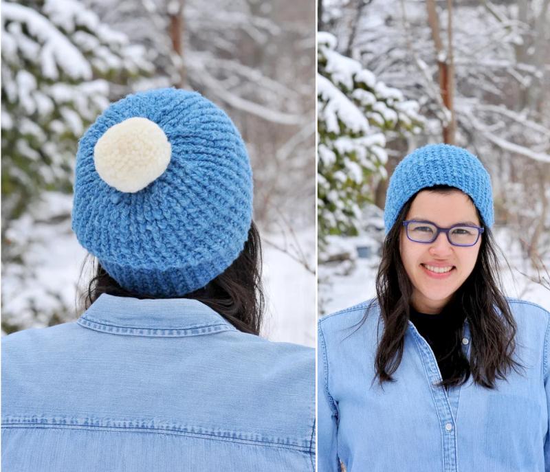 Simple-knit-hat-pom-pom