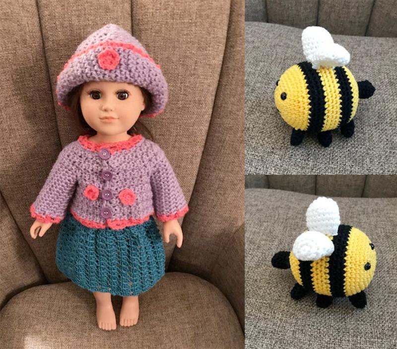 Crocheted-bee-amigurumi